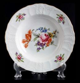 """набор тарелок 23 см 6 шт глубокие """"бернадотт /полевой цветок"""" / 012470"""