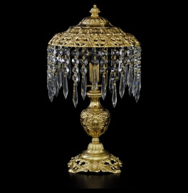 """лампа настольная 1 рожковая хрусталь/бронза """"royal bohemia"""" / 134694"""