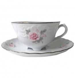 """чайная чашка 220 мл 1 шт """"рококо /серая роза /платина"""" / 109878"""
