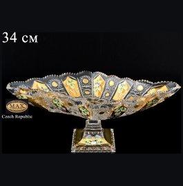 """ваза для фруктов 34 см н/н """"хрусталь с золотом"""" / 044511"""
