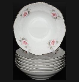 """набор салатников 16 см 6 шт """"бернадотт /серая роза /платина"""" / 012486"""