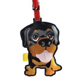 "кожаный брелок на сумку ""rottweiler"" / 144004"