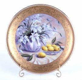 """тарелка настенная 33 см """"цветы /1162""""  / 002171"""