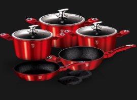 """набор посуды 10 предметов """"burgundy metallic line"""" / 131634"""