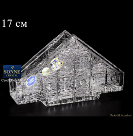"""салфетница 17 см """"s.crystal /хрусталь резной"""" / 064149"""