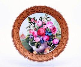 """тарелка настенная 33 см """"цветы /1419"""" / 002174"""