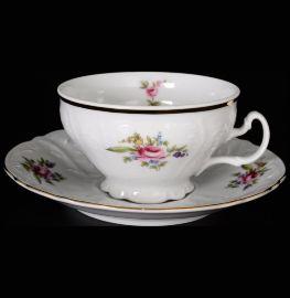 """набор чайных пар 220 мл 6 шт низкие н/н """"бернадотт /полевой цветок"""" / 006247"""