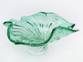 "ваза для фруктов 32 см ""прозрачно-тёмно-зелёная"" / 146144"