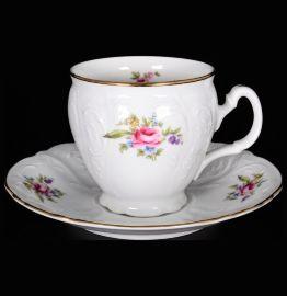 """набор кофейных пар 170 мл 6 шт высокие н/н """"бернадотт /полевой цветок"""" / 027138"""