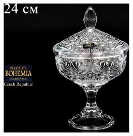 """ваза для конфет 24 см н/н с крышкой """"персей /без декора""""  / 053496"""
