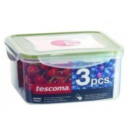 контейнер freshbox 3 шт,, 0,4, 0,7, 1,2 л, квадратный, шт / 141632