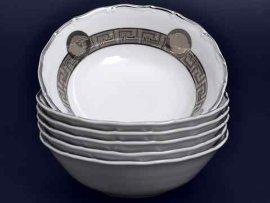 """набор салатников 16 см 6 шт """"магнолия /версаче мг /платина"""" / 011128"""