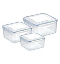 контейнер freshbox 3 шт,, 1,2, 2,0, 3,0 л, квадратный, шт / 141634