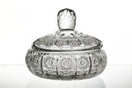 """вазочка 12 см с крышкой """"хрусталь резной"""" / 049185"""