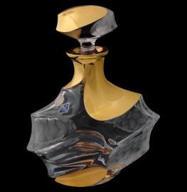 """графин для виски 800 мл """"calypso /с золотом"""" хрусталь йиглава / 084498"""