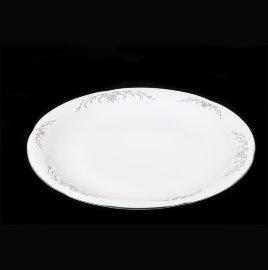 """блюдо 32 см круглое """"камелия /серый орнамент"""" / 111448"""