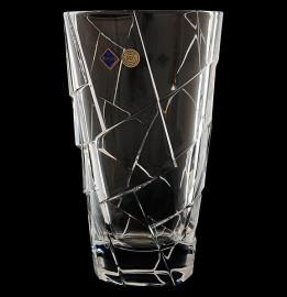 """ваза для цветов 30,5 см """"crack /без декора"""" хрусталь йиглава / 019166"""