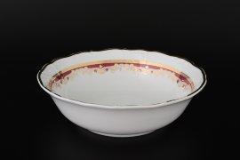 """салатник 25 см """"мария-луиза /лилии на красном"""" / 092365"""