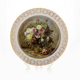 """настенная тарелка 32 см """"цветы 1"""" / 085322"""