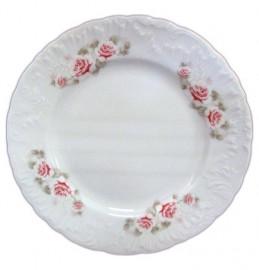 "тарелка 25 см 1 шт ""рококо /серая роза /золото"" / 111485"
