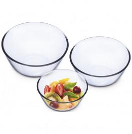 """набор салатников 3 предмета (500 мл, 1,3 л, 2,5 л) """"simax /без декора"""" / 019456"""