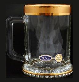 """кружка для пива 300 мл """"матовая полоса /золото"""" / 110446 кружка для пива 300 мл """"матовая полоса /золото"""" / 110446"""