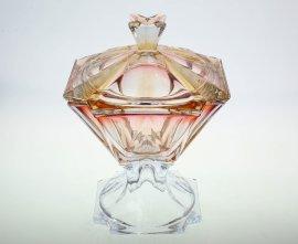 "ваза для конфет 26 см с крышкой н/н ""метрополитэн /янтарно-красная"" r-g / 139057"
