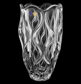 "ваза для цветов 30 см ""ocean /без декора"" хрусталь йиглава / 100356"