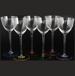 """бокалы для белого вина 260 мл 6 шт """"колорс /разноцветная ножка"""" / 101196"""
