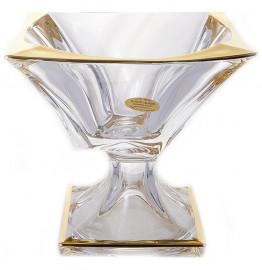 "ваза для конфет 18 х 18 см н/н ""квадрон /с золотом"" / 145892"