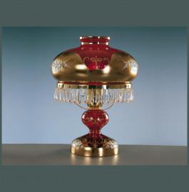 """лампа настольная 1 рожковая """"лепка красная /elite bohemia"""" d-27 см, h-37 см, вес-2,2 кг / 136534"""