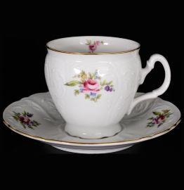 """набор чайных пар 240 мл 6 шт высокие н/н """"бернадотт /полевой цветок"""" / 012467"""