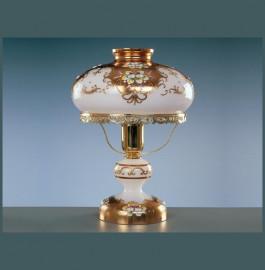 """лампа настольная 1 рожковая """"лепка белая /elite bohemia"""" d-27 см, h-37 см, вес-2,2 кг / 136535"""