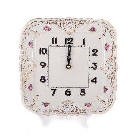 """часы 26 см квадратные """"бернадотт /полевой букет /ск"""" / 132537"""