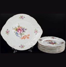 """набор для торта 7 предметов """"бернадотт /полевой цветок"""" / 025725"""