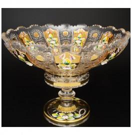 """ваза для фруктов 30 см н/н """"хрусталь с золотом"""" / 044504"""