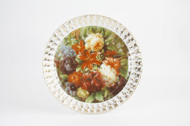 """настенная тарелка 32 см """"цветы 13"""" / 080152"""