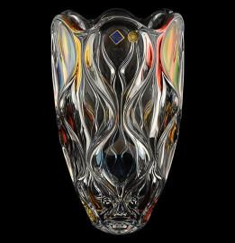 """ваза для цветов 30 см """"ocean /разноцветный"""" хрусталь йиглава / 100352"""