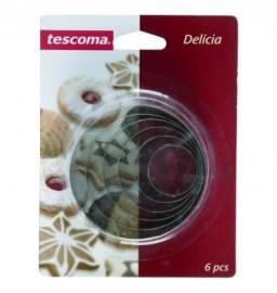 """формочки для печенья 6 шт круги """"tescoma /delícia"""" / 142541"""