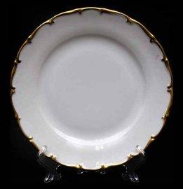 """набор тарелок 25 см 6 шт """"анжелика /золотая отводка"""" / 027522"""
