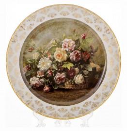 """настенная тарелка 32 см """"цветы 2"""" / 085323"""