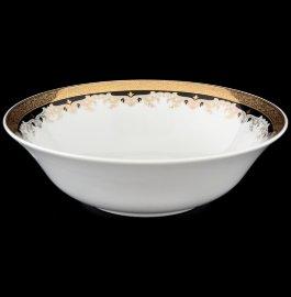 """салатник 25 cм """"кристина /лилии на чёрном"""" / 056226"""