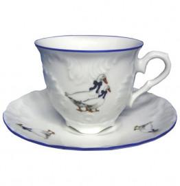 """кофейная пара 170 мл 1 шт """"рококо /гуси"""" (блюдце 12,5 см) / 109891"""