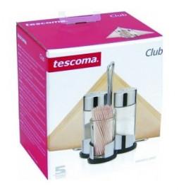 "набор для специй (соль, перец, зубочистки, салфетки) на подставке ""tescoma /club"" / 141945"
