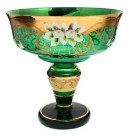 """ваза для конфет 15 см н/н """"лепка зелёная"""" / 038246"""