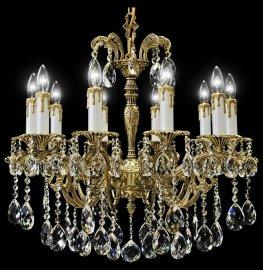 """люстра 10 рожковая бронза/черная патина """"royal bohemia"""" d-75 см, h-70 см / 128956"""