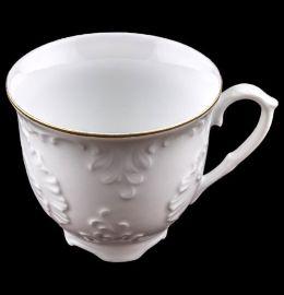 """чайная чашка 250 мл 1 шт """"рококо /отводка золото""""  / 109983"""