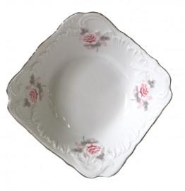 """салатник 24 см квадратный """"рококо /серая роза /платина"""" / 109866"""