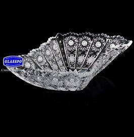 """ваза для конфет 20 см """"glasspo /хрусталь резной"""" / 013656"""