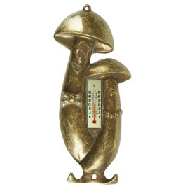 "термометр ""грибы"" 22 х 10 см с крючками латунь ""a.livio"" / 098905"